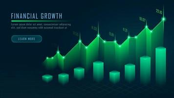 Aktiemarknad eller valutahandel i grafiskt koncept