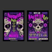 Två affischer för Halloween vektor