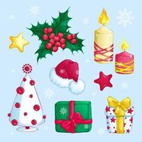 Set Weihnachtsaufkleber