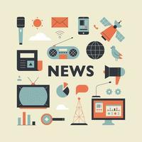 Nachrichtensendungsobjekte. vektor