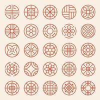 Koreanische und asiatische traditionelle Muster. vektor