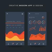Entwurfsvorlage für App-Dashboards vektor