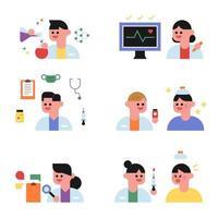 Söt läkare och patientkaraktär.