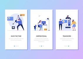 Malldesign för mobiltelefoner webbsida relaterad till företagets affärsverksamhet.