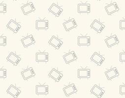 Retro tv Symbol Muster vektor