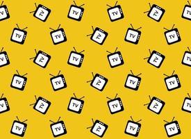 Retro-TV-Web-Symbol Muster vektor