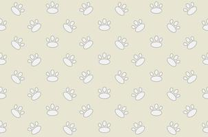 Djur fotspår sömlösa mönster