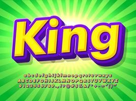 Tecknad texteffekt med popdesign vektor