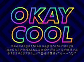 Minimalistisk färgrik texteffekt