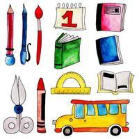 Akvarell tillbaka till skolelementsamlingen