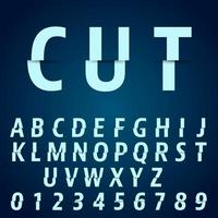 Alfabetsteckensnittmall vektor