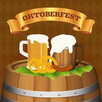 Oktoberfest-Bierfestival-Hintergrundkonzept vektor
