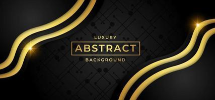 Golden Wave Luxury bakgrund vektor