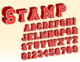 Schriftartschablone des Alphabetes 3d vektor