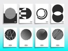 Uppsättning av minimal geometrisk designomslagsmall vektor