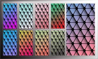 Dreiecksteigungstapete für Smartphoneschirm vektor