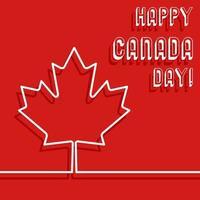 Lycklig Kanada dag affisch