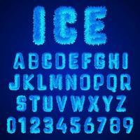 Eis Schriftart Alphabet Vorlage vektor