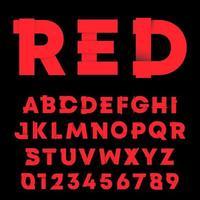 Bokstäver och siffror lutning skugga design. Alfabetsteckensnittmall.