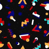 Geometriska sömlösa mönster 80-tal design vektor