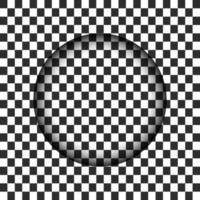 Genomskinligt cirkelhål med suddig kant. Vektorillustration
