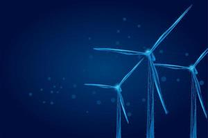 Tre vindkraftverk vektor