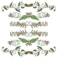 Söt gräns design för julelement