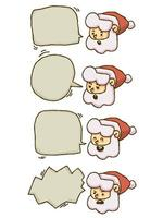 Weihnachten Santa Claus Bubble Chat vektor