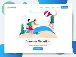 Landingpage-Vorlage von Summer Vacation vektor