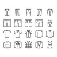 Kläder Ikonuppsättning