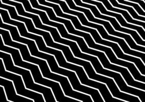 Abstrakt diagonal vit chevronvåg eller vågigt mönster på svart bakgrund.