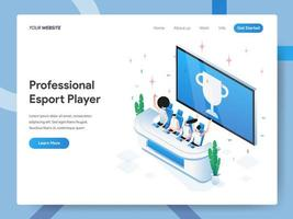 Zielseitenvorlage von Professional Esport Player vektor