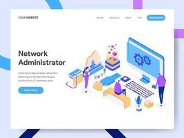 Zielseitenvorlage von Network Administrator
