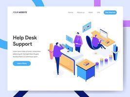 Landningssidesmall för Help Desk Support