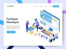 Full Stack-Entwicklerkonzept. vektor