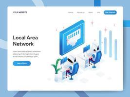 Landningssidesmall för Local Area Network vektor
