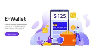 E-plånbok koncept. Finansiell teknik