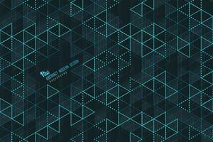Abstrakte blaue Dreiecklinien der Technologieschablone