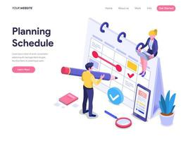 Planera planeringskoncept. vektor