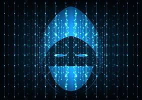 Teknik hacker koncept. vektor