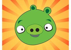 Grön gris vektor