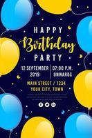 Alles Gute zum Geburtstag Party Poster vektor