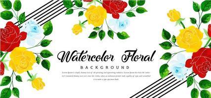 Beautyful Aquarell-Blumenhintergrund vektor