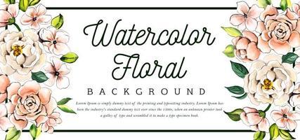 Schönes Aquarell mit Blumen vektor