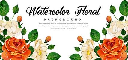 Aquarell Blumen Hintergrund vektor