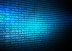 Abstrakter binär Code techno Hintergrund vektor