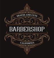 Vintage bokstäver för barbershop
