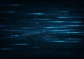 Glödande abstrakt teknologibakgrund med hög hastighet