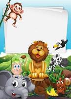 Gränsdesign med vilda djur