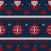 Jul sömlös stickad mönsterbakgrund